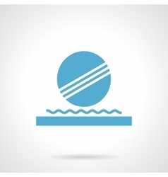 Decoration fountain glyph style icon vector image