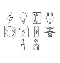electric icon set vector image