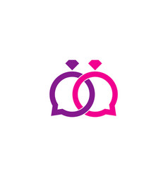 Engagement chat logo icon design vector