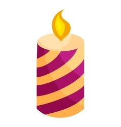 Festive candle icon cartoon style vector image vector image