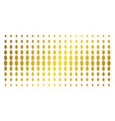 Filled ellipse gold halftone array vector