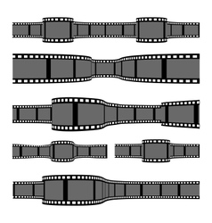 film strip banners vector image