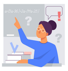 flat stylized a teacher at the vector image