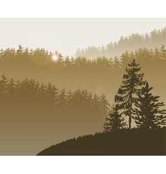 Forest trees BG vector image