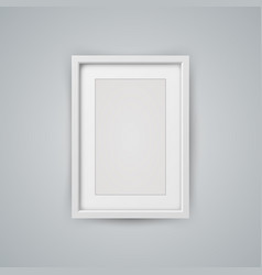 frame for photo on the grey background vector image