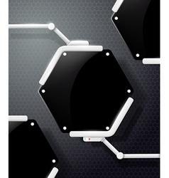 futuristic screen honeycombs vector image