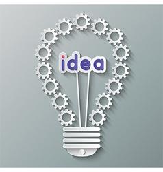 gear bulb vector image