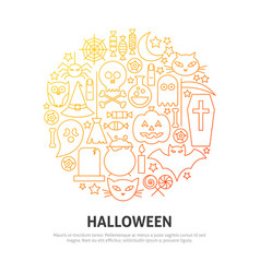 halloween circle concept vector image