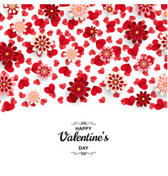 happy valentine day background good design vector image
