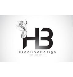 Hb letter logo design with black smoke vector