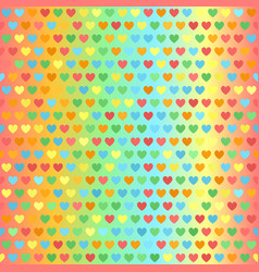 heart pattern seamless glowing vector image