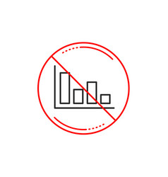 Histogram chart line icon financial graph vector