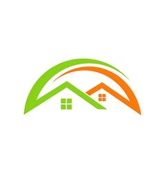 Home realty roconstruction logo vector