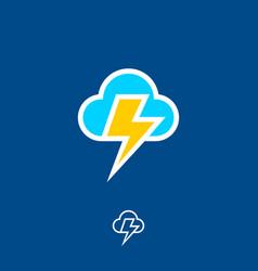Icon cloud flash vector