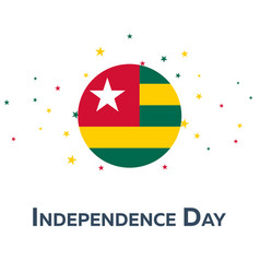 independence day of togo patriotic banner vector image