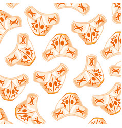 Kazakh hat pattern vector