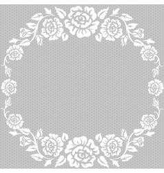 lace vintage background vector image