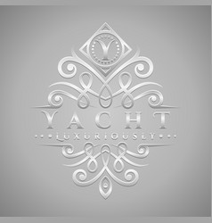 Letter y logo - classic luxurious silver vector