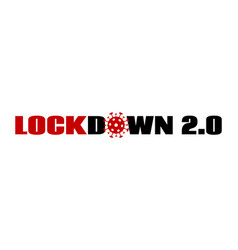 lockdown 20 coronavirus quarantine lock down vector image