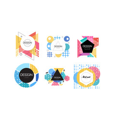 logo design collection abstract badges various vector image