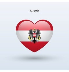 Love Austria symbol Heart flag icon vector