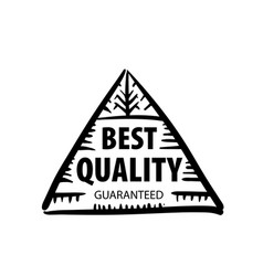 mark of the best quality of the product vector image