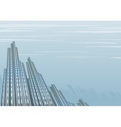 Misty dark building vector image