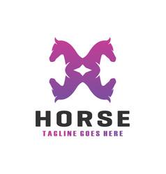 modern horse h letter logo vector image