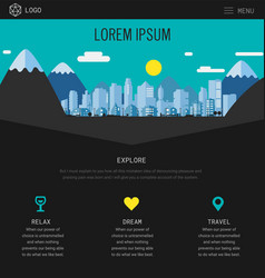 one page website design with city header vector image