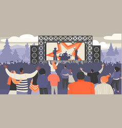 open air music festival vector image