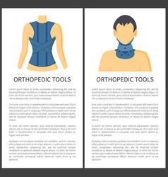 orthopedic tools for patients vector image