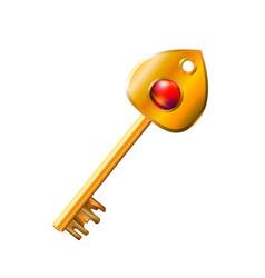 Precious golden key vector