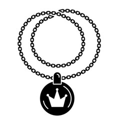 Rapper necklace icon simple style vector