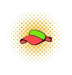 Red visor icon comics style vector