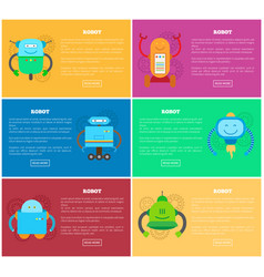 robot and pages web collection vector image