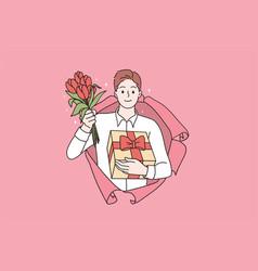 Saint valentines day celebration concept vector