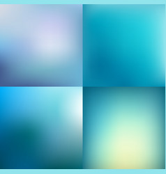set of abstract colorful blue blurred backgrounds vector image