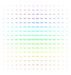 Sinusoid wave shape halftone spectrum grid vector