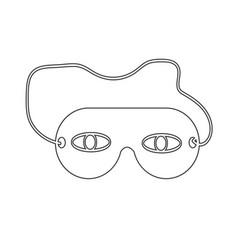 Sleep eye mask icon vector