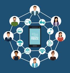 social media technology vector image