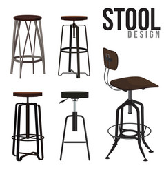Stool design vector