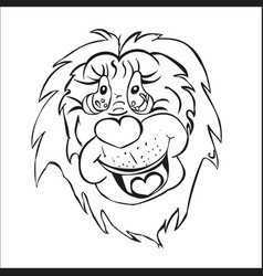 stylized lion cartoon beast mouth muzzle of an vector image