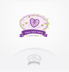 sweet boutique logo vector image