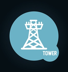 tower icon vector image