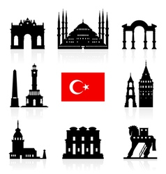 Turkey Travel Landmarks Icon vector