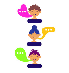 User avatars chat comments vector