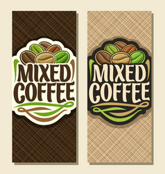 Vertical banners for coffee vector