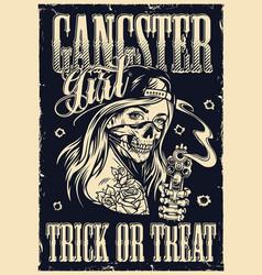vintage gangster template vector image
