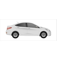 white car background vector image