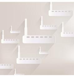 Wi fi router web icon vector image